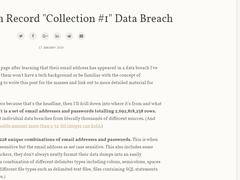 7.73亿邮件帐号密码泄漏,你的密码可能就在其中!