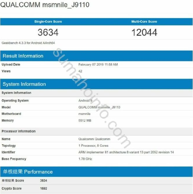 索尼新旗舰曝光:配备6GB内存搭载骁龙855芯片