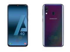 三星Galaxy A40渲染图曝光!将配备Infinity U显示屏和双摄像头