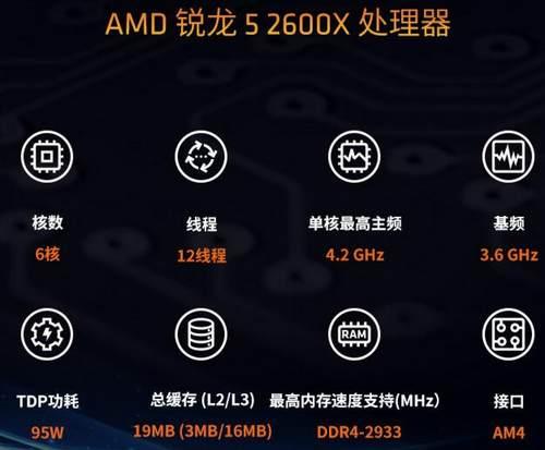 选AMD锐龙5 2600X处理器 游戏娱乐帧无压力