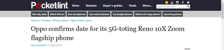 OPPO Reno的5G版会和骁龙855一起来吗?
