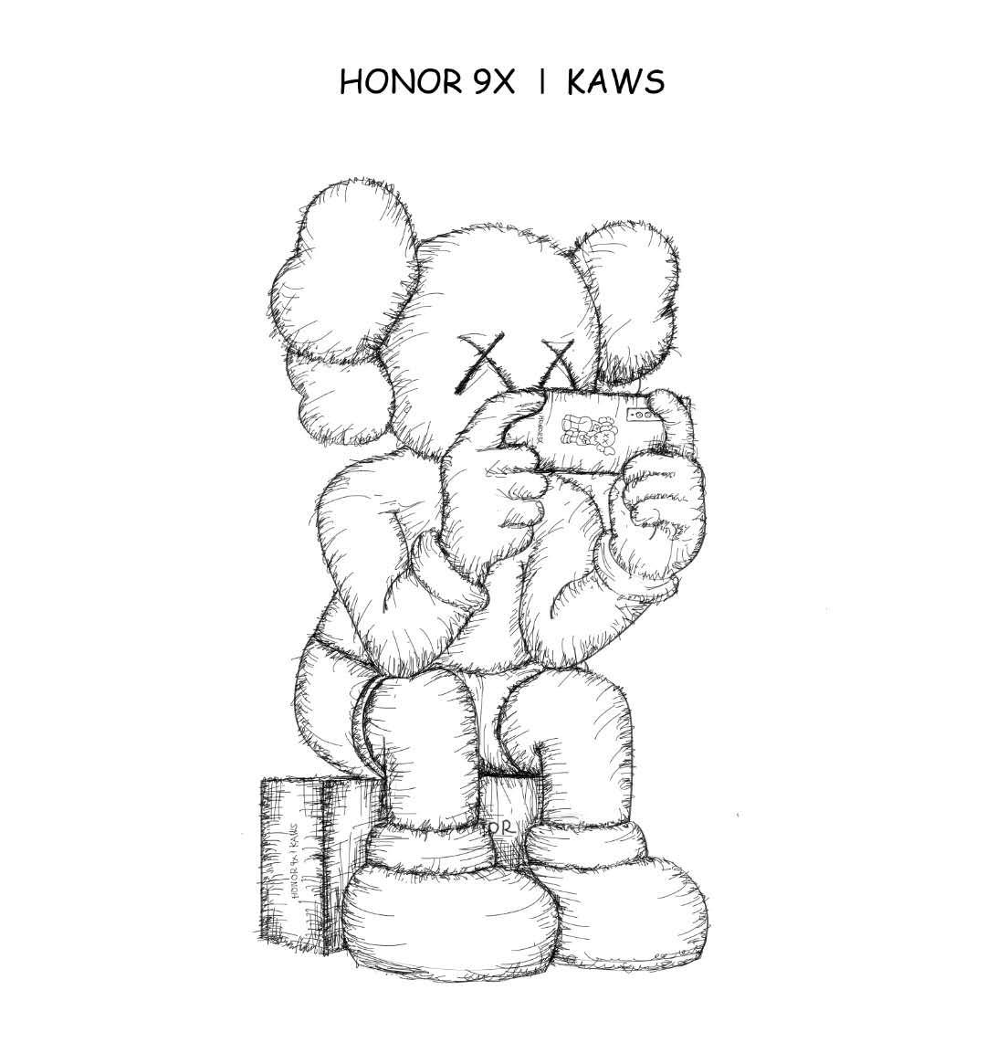 荣耀9X与Kaws合作 外观不一般 或后四摄