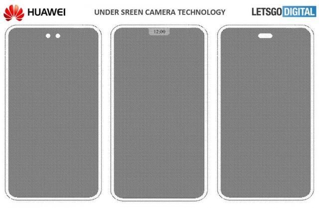 华为屏下摄像头专利曝光 真正的全面屏来了?