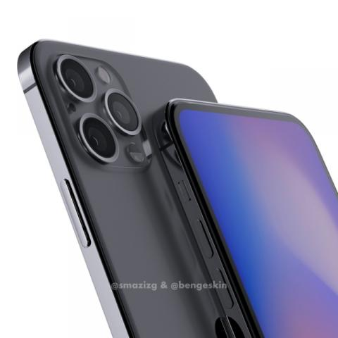取消刘海屏!iPhone 12 Pro渲染图曝光,或将全系支持5G网络