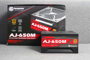 全日系电容10年质保 艾湃电竞AJ-650M金牌全模组电源图赏