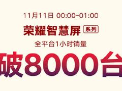 一小时突破8000台! 荣耀智慧屏双十一再创新高
