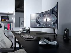 顶级游戏显示器即将到来!三星Odyssey G9,49英寸+240Hz高刷新率