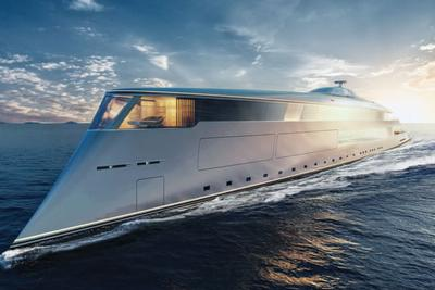 盖茨45亿氢动力游艇:全长112米,可容纳无限泳池与直升机