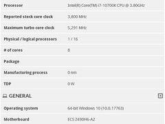 英特尔酷睿i7-10700K规格继续曝光:最大睿频5.3GHz