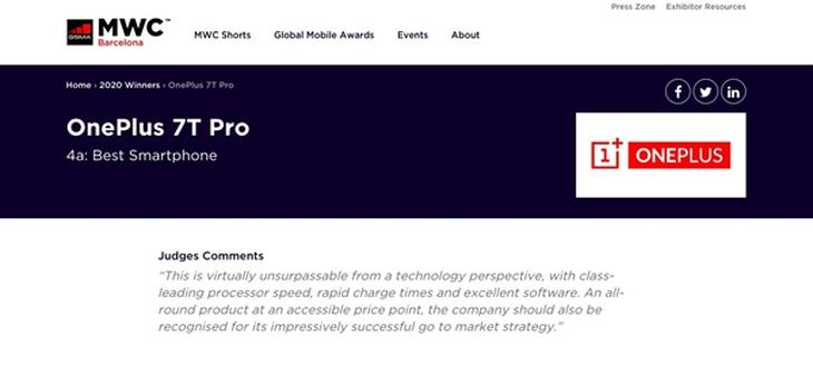 MWC 2020最佳智能手机奖出炉:苹果输了