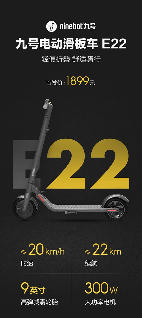 疫情复工骑它最便捷 九号电动滑板车E22不爆胎更舒适
