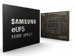 三星开始量产512GB eUFS 3.1芯片,写入速度超1.2GB/s