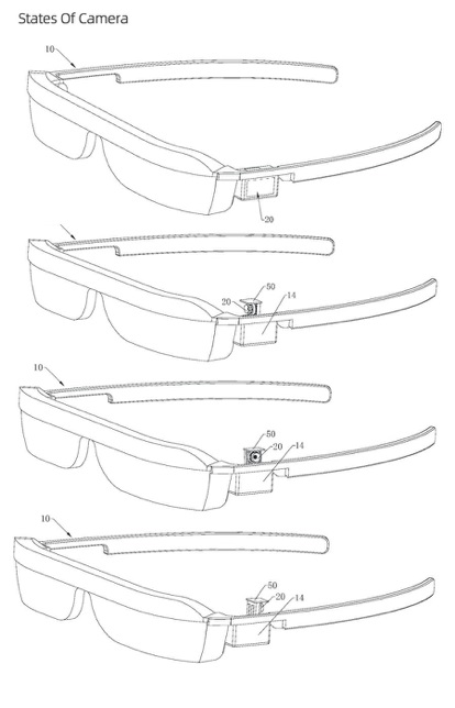 华为AR眼镜专利曝光:可旋转弹出式镜头