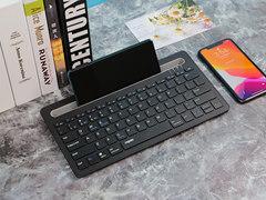 雷柏XK100图赏:自带卡槽的蓝牙键盘