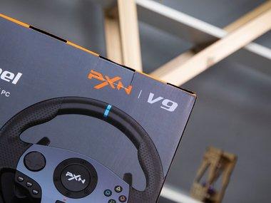 莱仕达PXN-V9游戏方向盘开箱图赏