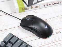 雷柏V30幻彩RGB游戏鼠标评测 外观简约手感好