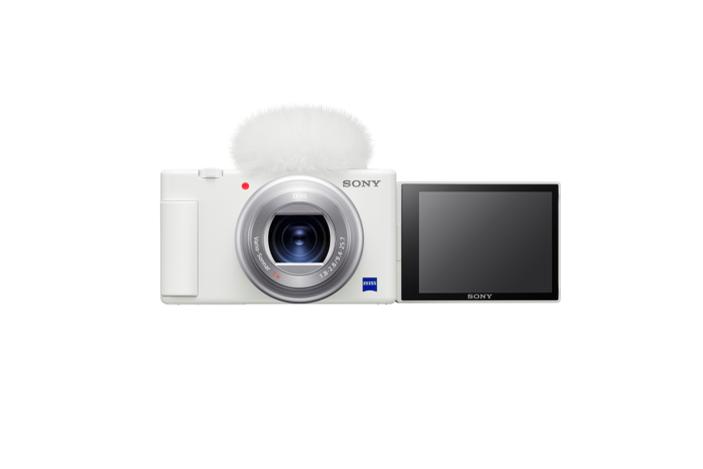 索尼Vlog相机ZV-1上新色 白色版时尚机身发布