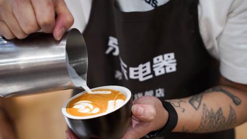 """京东电器""""電氣咖啡节""""带你速成咖啡拉花达人"""
