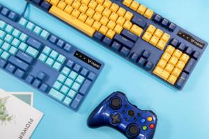 多色潮玩!雷柏V500 Pro机械键盘图赏