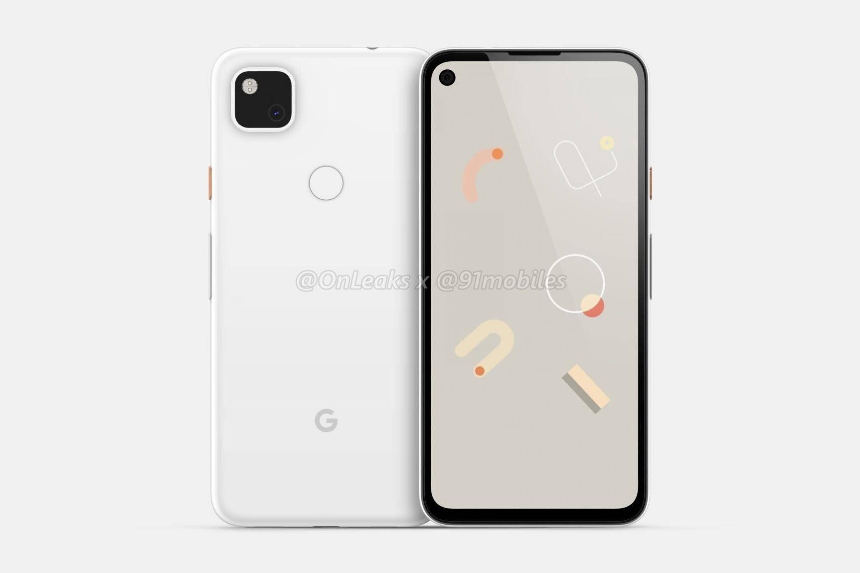 谷歌Pixel 4a渲染图曝光:系列首款打孔屏手机