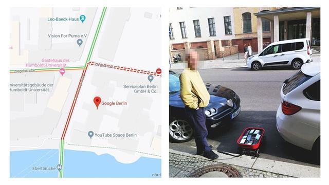 小推车装满99部手机,骗过地图导致虚拟道路拥堵,官方回应来了