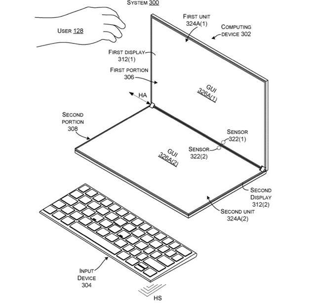 苹果Surface Neo专利曝光,自适应遮挡物,有望今年发布